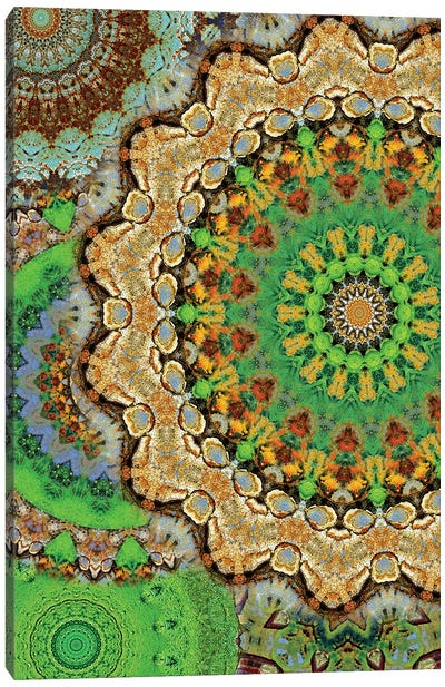 Zelena Mandala Canvas Art Print