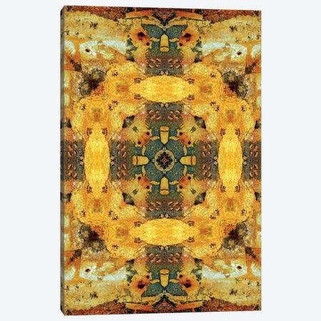 Golden Tea Mandala Canvas Print #OST40} by LuAnn Ostergaard Canvas Art Print