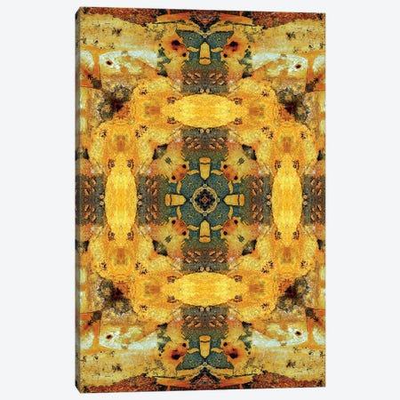 Golden Tea Mandala Canvas Print #OST40} by LuAnn Ostergaard Canvas Art Print