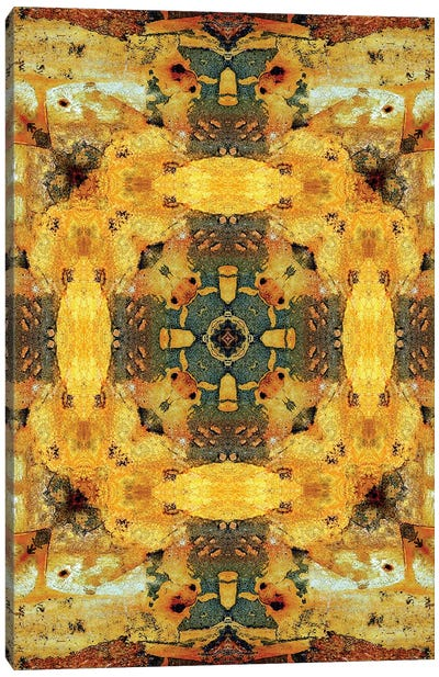 Golden Tea Mandala Canvas Art Print