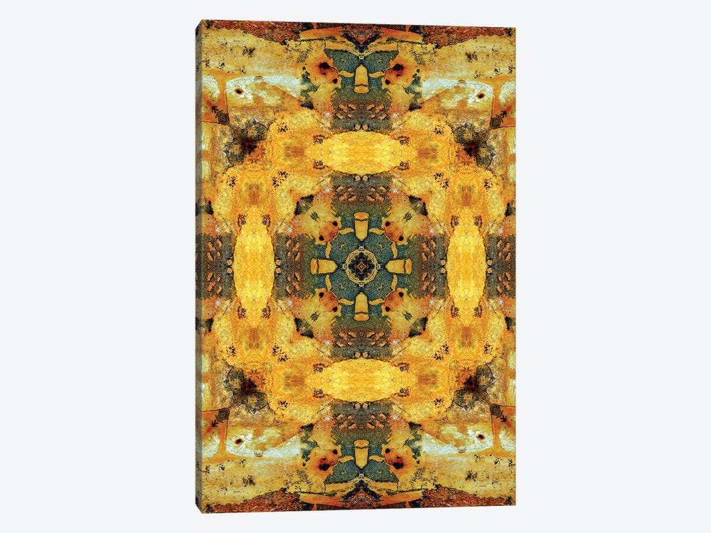 Golden Tea Mandala by LuAnn Ostergaard 1-piece Canvas Artwork