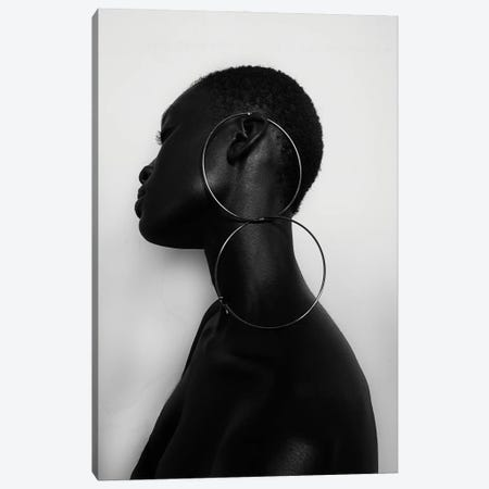 Black Queen II Canvas Print #OTG13} by Morgan Otagburuagu Canvas Wall Art