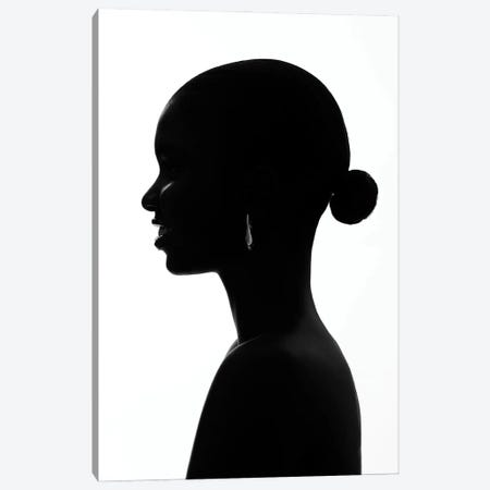 Black Smile Canvas Print #OTG20} by Morgan Otagburuagu Art Print