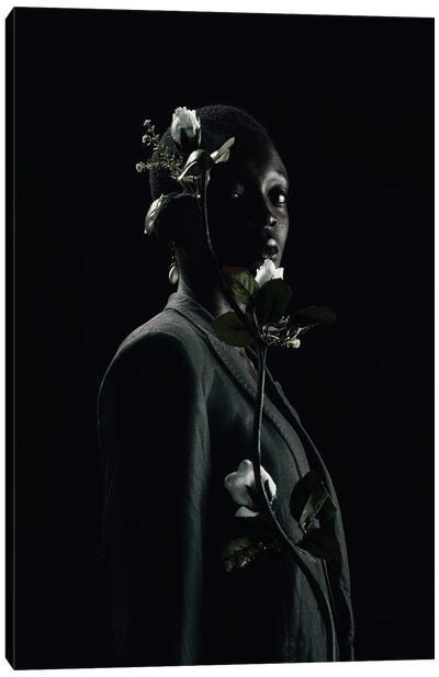 She Is Black She Is A Flower Canvas Art Print