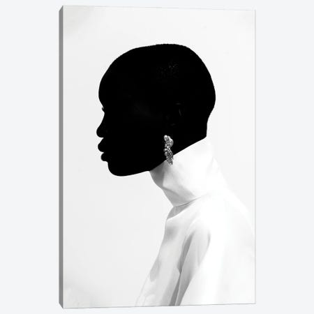 Black Head Canvas Print #OTG6} by Morgan Otagburuagu Canvas Art Print