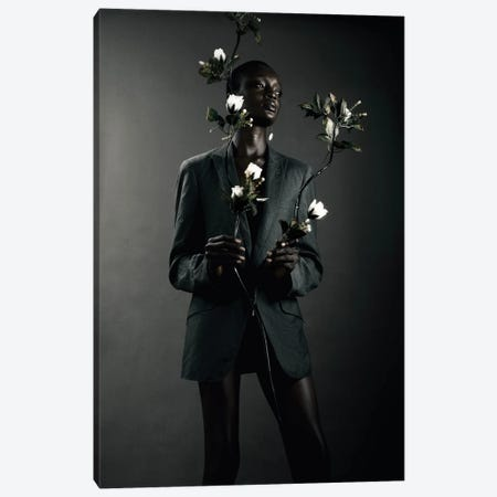 She Is Black She Is A Flower II Canvas Print #OTG7} by Morgan Otagburuagu Canvas Print