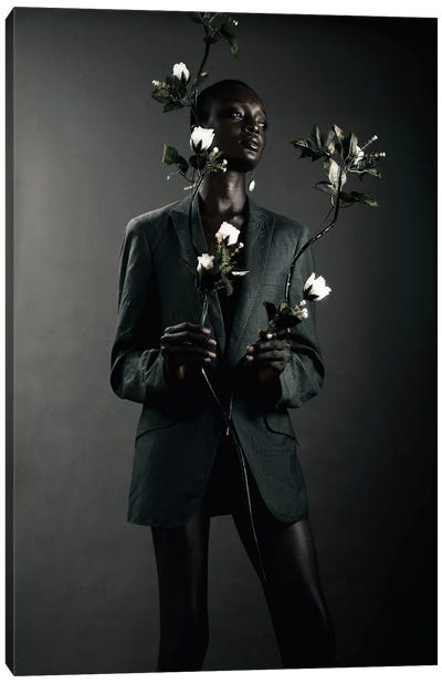 She Is Black She Is A Flower II Canvas Art Print