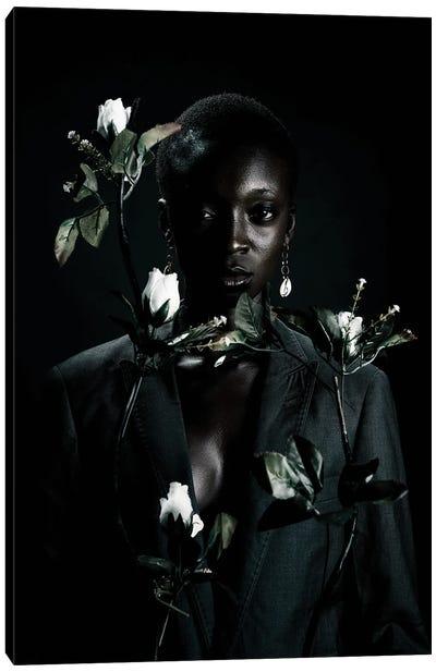 She Is Black She Is A Flower III Canvas Art Print