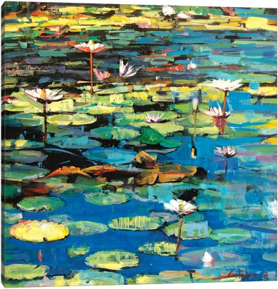Waterlilies II Canvas Art Print