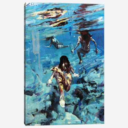 Diving The Ocean I Canvas Print #OTL16} by Marco Ortolan Canvas Artwork