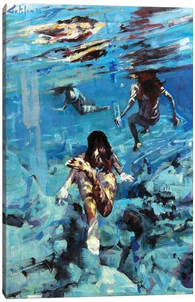 Diving The Ocean I Canvas Art Print