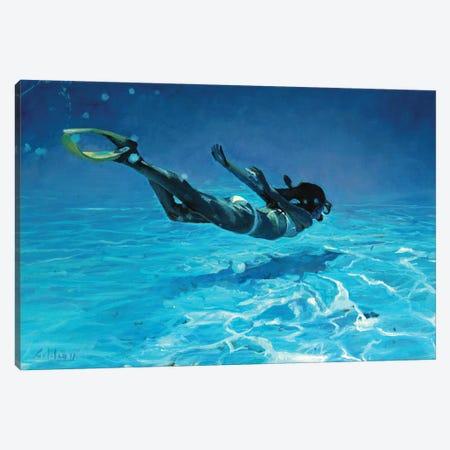 Diving The Ocean II Canvas Print #OTL17} by Marco Ortolan Canvas Artwork