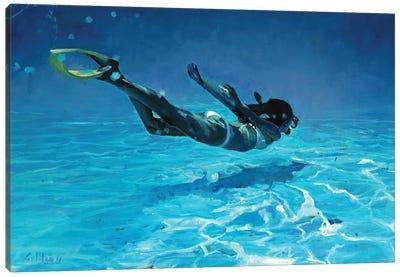 Diving The Ocean II Canvas Art Print