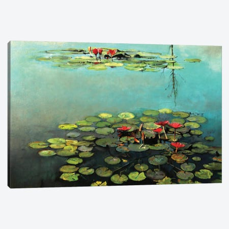 Waterlilies Canvas Print #OTL1} by Marco Ortolan Art Print