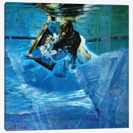 Underwater Mirrors Canvas Print #OTL23} by Marco Ortolan Canvas Art