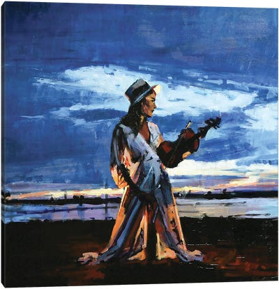 The Lady Of The Violin Canvas Art Print