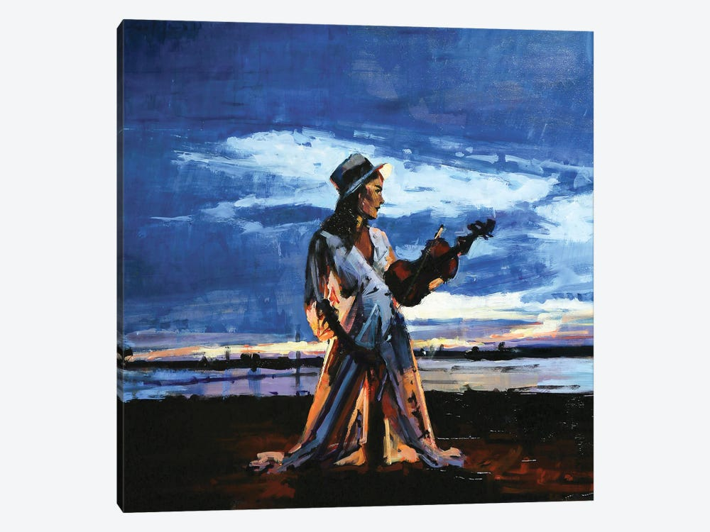 The Lady Of The Violin by Marco Ortolan 1-piece Canvas Print