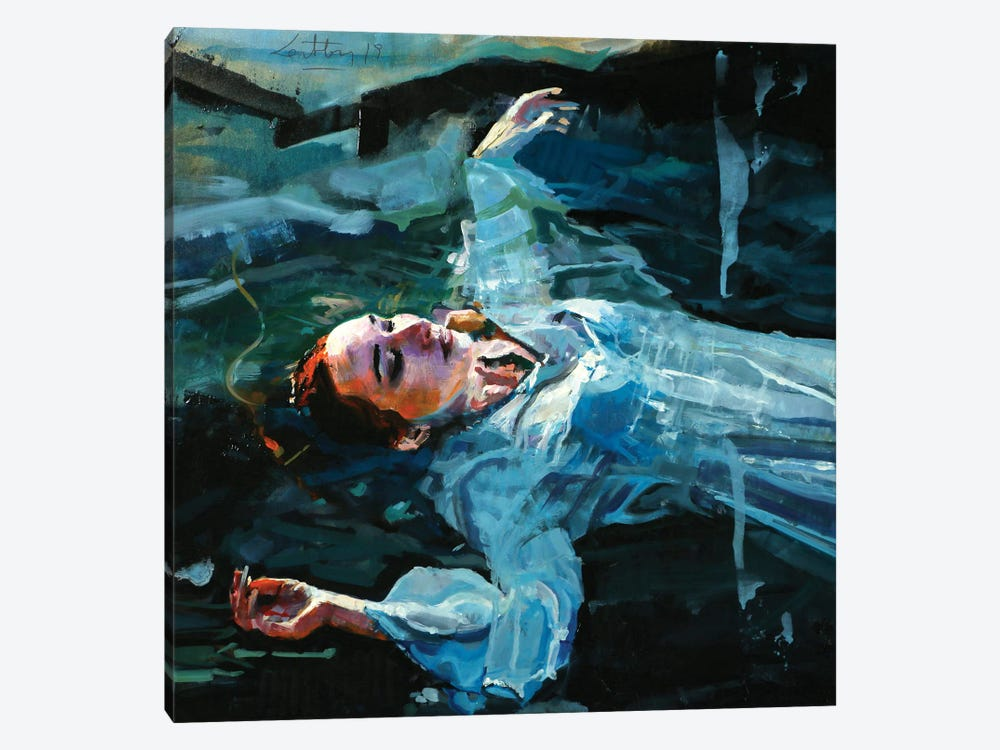The Death Of Ophelia by Marco Ortolan 1-piece Canvas Print