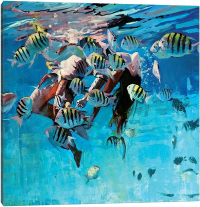 Dancing Underwater IV Canvas Art Print