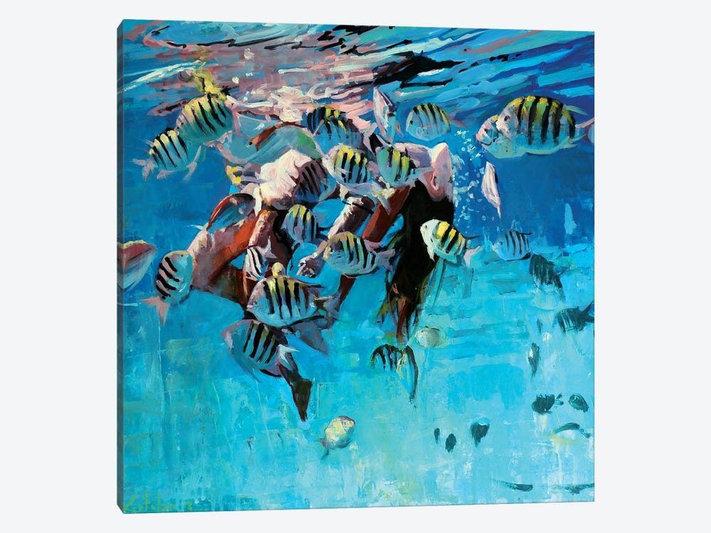 Dancing Underwater IV by Marco Ortolan 1-piece Canvas Artwork
