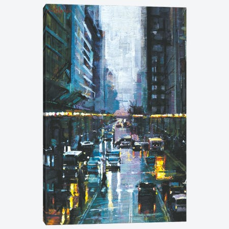 NYC Streets Canvas Print #OTL34} by Marco Ortolan Canvas Artwork
