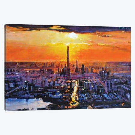 Sunset City Canvas Print #OTL37} by Marco Ortolan Canvas Art