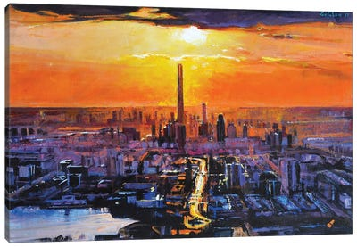 Sunset City Canvas Art Print