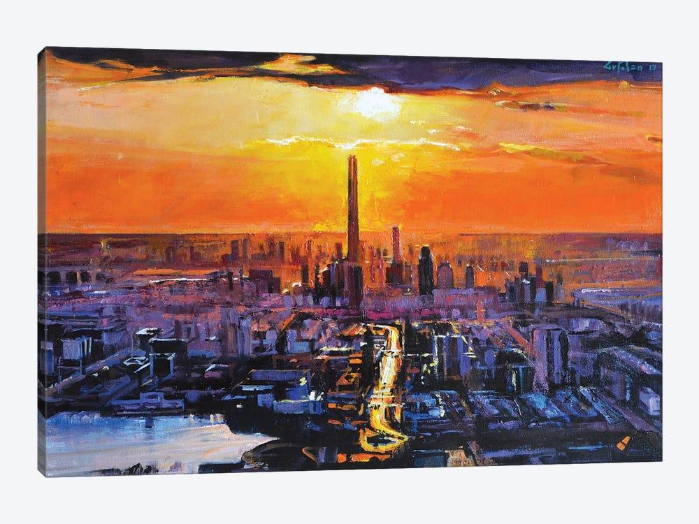 Sunset City by Marco Ortolan 1-piece Canvas Art
