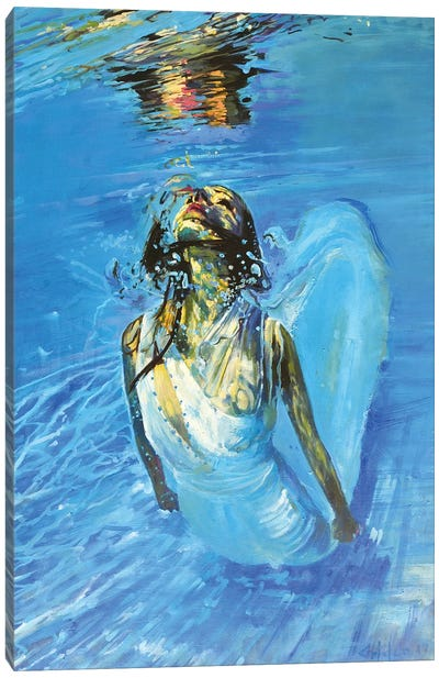 Diving The Ocean IV Canvas Art Print