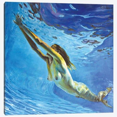 Diving The Ocean V Canvas Print #OTL40} by Marco Ortolan Canvas Artwork