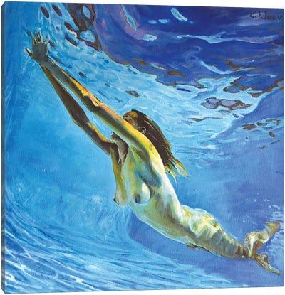 Diving The Ocean V Canvas Art Print
