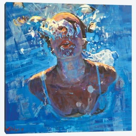 Diving The Ocean VIII Canvas Print #OTL49} by Marco Ortolan Canvas Wall Art