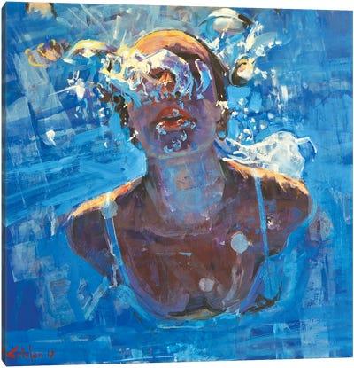 Diving The Ocean VIII Canvas Art Print