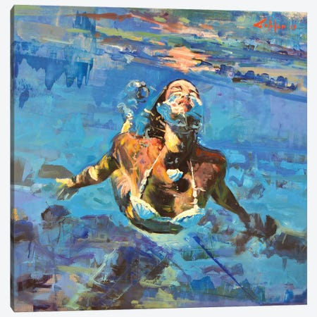 Diving The Ocean IX Canvas Print #OTL50} by Marco Ortolan Canvas Print