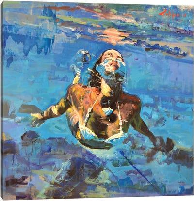 Diving The Ocean IX Canvas Art Print