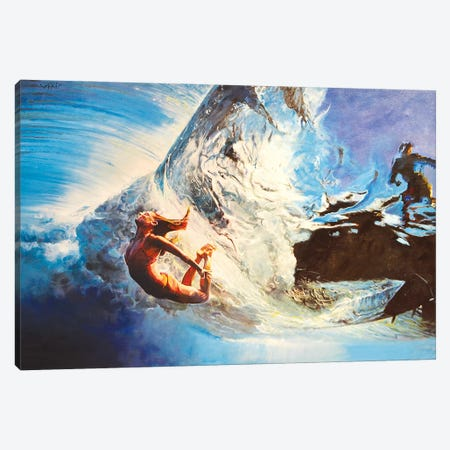 The Wave Canvas Print #OTL57} by Marco Ortolan Canvas Wall Art