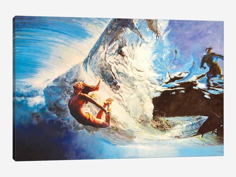The Wave by Marco Ortolan 1-piece Canvas Wall Art