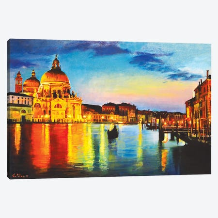 The Great Canal Canvas Print #OTL59} by Marco Ortolan Art Print