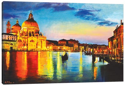 The Great Canal Canvas Art Print