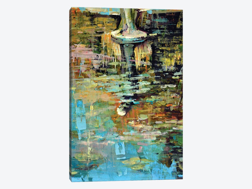 Waterlilies V by Marco Ortolan 1-piece Canvas Wall Art