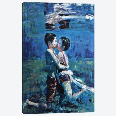 Kissing Underwater V Canvas Print #OTL73} by Marco Ortolan Art Print