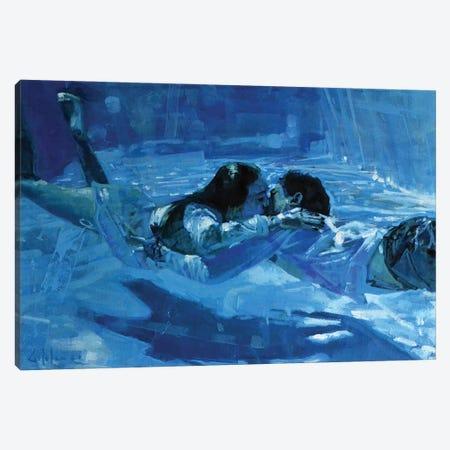 Kissing Underwater VII Canvas Print #OTL76} by Marco Ortolan Canvas Art