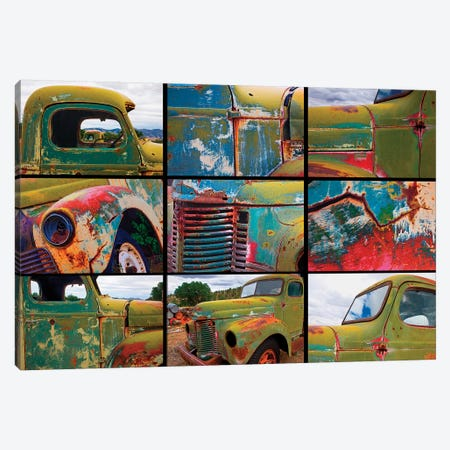 Abandoned trucks poster, Chloride, New Mexico Canvas Print #OTW1} by Mallorie Ostrowitz Canvas Print