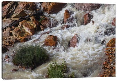 Runoff Coming From Lassen Peak. Canvas Art Print
