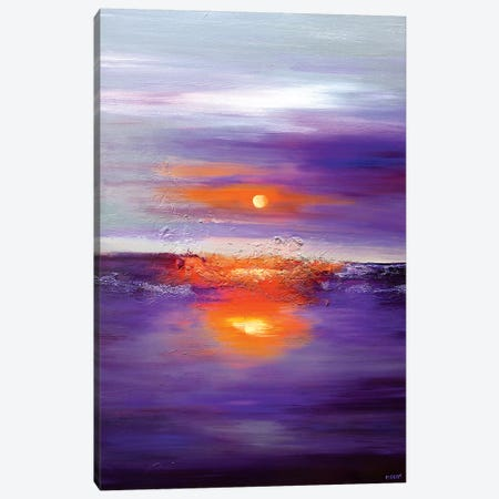 Purple Sunset Canvas Print #OTZ113} by Osnat Tzadok Art Print