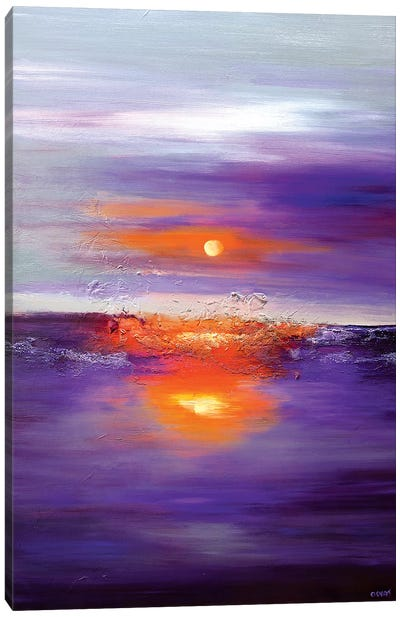 Purple Sunset Canvas Art Print