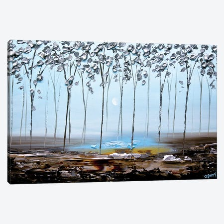 The Silver Forest II 3-Piece Canvas #OTZ123} by Osnat Tzadok Canvas Art