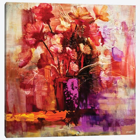 Blossom VI 3-Piece Canvas #OTZ12} by Osnat Tzadok Canvas Art Print