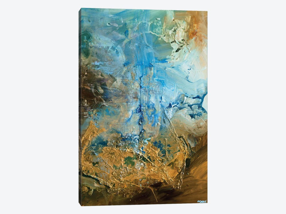 The Golden Planet by Osnat Tzadok 1-piece Canvas Artwork