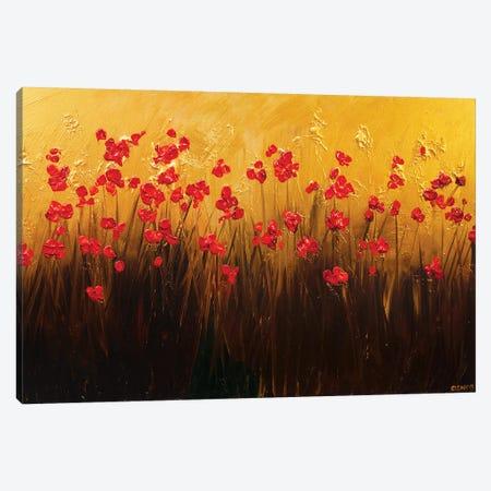 Abundance 3-Piece Canvas #OTZ137} by Osnat Tzadok Canvas Wall Art